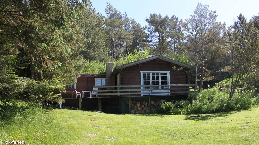 Skallerup Blockhütte außen
